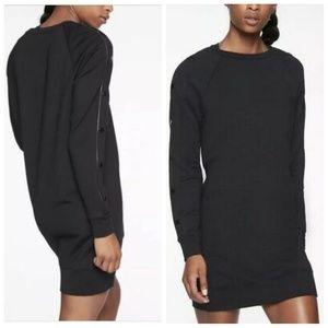 Athleta Snappy Sweatshirt Black Dress Size S